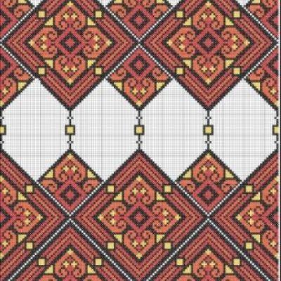 Схема вышивки крестом  Ромби Закарпаття. Ромби Закарпаття 54cd9c8fa007f